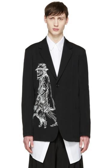 Yohji Yamamoto - Black Wool Drawing Blazer