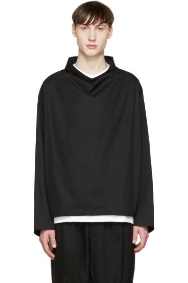 Lad Musician - Black Funnel Neck Pullover Jacket