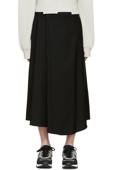 Lad Musician - Black Wool Crossover Shorts