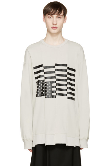 Lad Musician - Taupe Black Flag Pullover