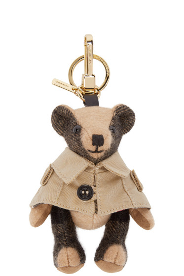 Burberry London - Camel Cashmere Thomas Trench Keychain