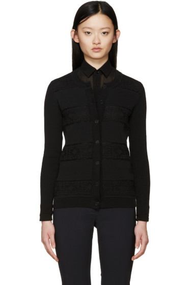 Burberry London - Black Broderie Anglaise Cardigan