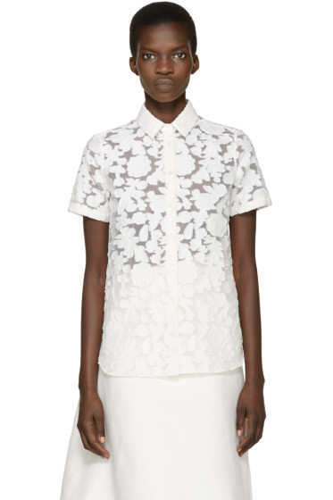 Burberry London - White Floral Asterss Shirt