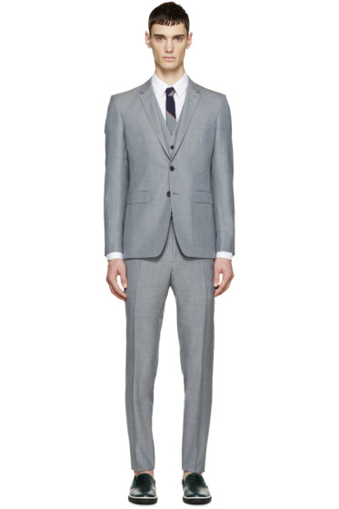 Burberry London - Grey Wool Slim Three-Piece Suit