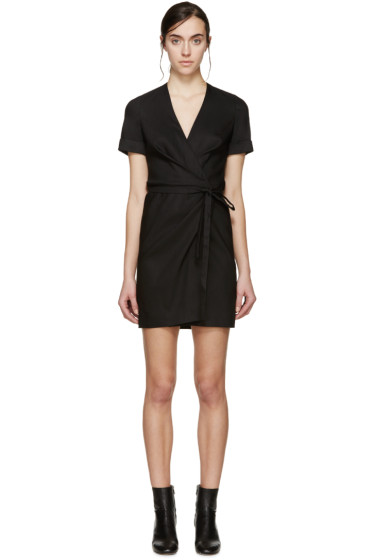 Isabel Marant Etoile - Black Linen Kansas Wrap Dress