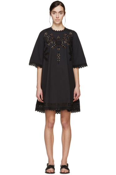 Isabel Marant Etoile - Black Poplin Domino Dress
