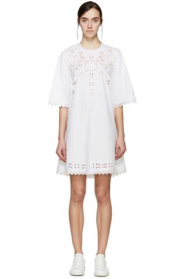 Isabel Marant Etoile - White Embroidered Domino Dress