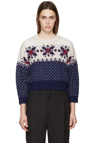 Isabel Marant Etoile - Navy & Beige Gillian Sweater