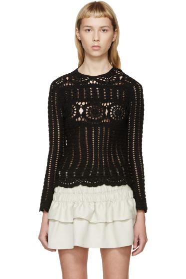 Isabel Marant Etoile - Black Crocheted Heloise Top