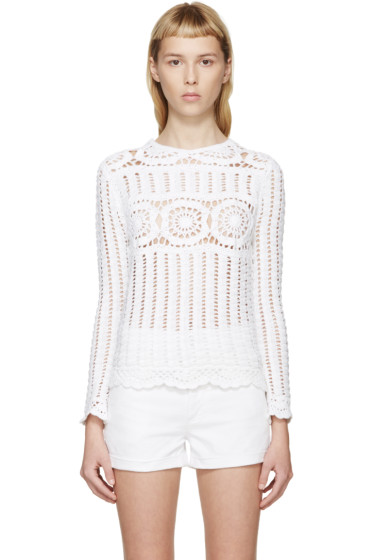 Isabel Marant Etoile - White Crocheted Heloise Top
