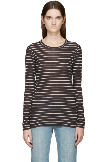 Isabel Marant Etoile - Black & White Striped Karon T-Shirt