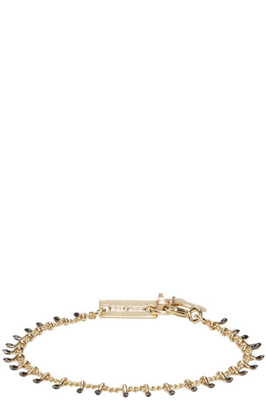 Isabel Marant - Gold & Black Beaded Casablanca Bracelet