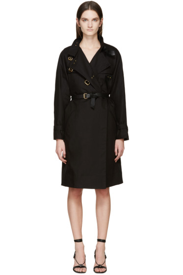 Isabel Marant - Black Canvas Hanya Trench Coat