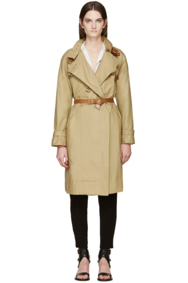 Isabel Marant - Beige Canvas Hanya Trench Coat