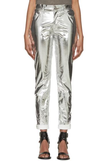 Isabel Marant - Silver Metallic Jada Trousers