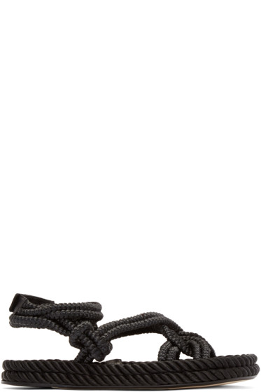 Isabel Marant - Black Lou Twisted Rope Sandals