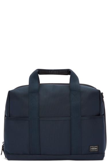 Porter - Navy Nylon Stage 2Way Briefcase