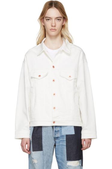 Off-White - White Oversized Denim Jacket