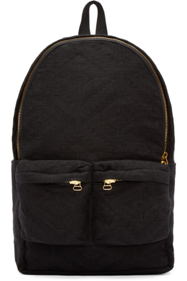 Off-White - Black Tapestry Backpack