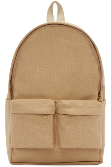 Off-White - Tan Canvas Backpack