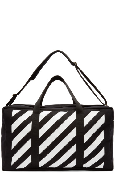 Off-White - Black & White Canvas Duffle Bag