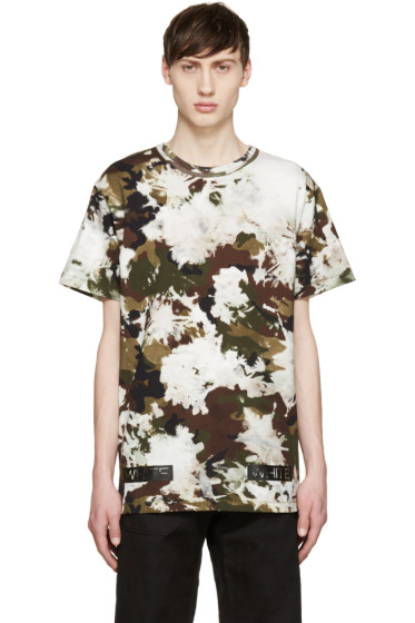 Off-White - Green & Brown Camouflage T-Shirt