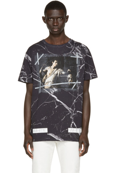Off-White - Black Marble T-Shirt