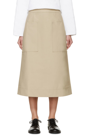 Studio Nicholson - Tan Cordusio Utility Skirt