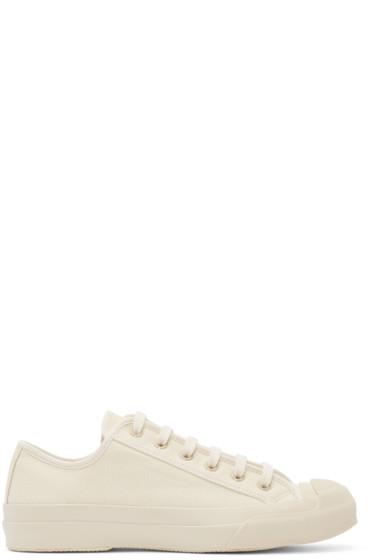 Studio Nicholson - Cream Canvas Merino Sneakers