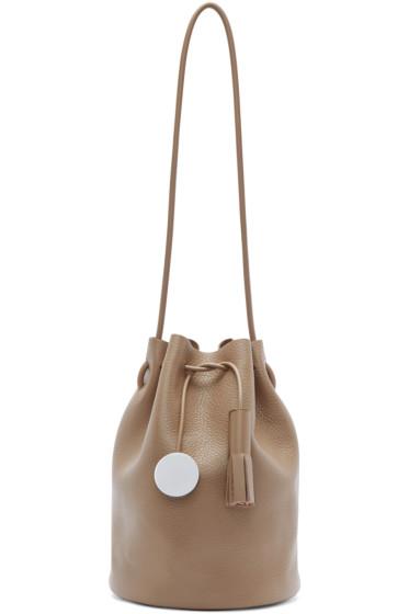 Building Block - Taupe Tassel Bucket Bag
