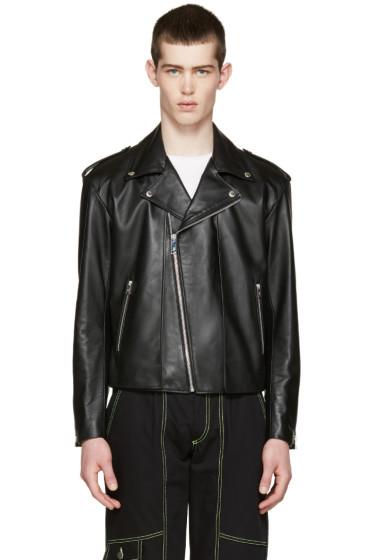 Johnlawrencesullivan - Black Leather Layered Jacket