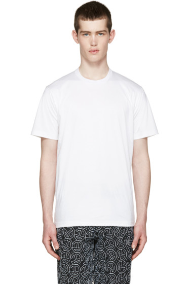 Johnlawrencesullivan - White Overlong T-Shirt