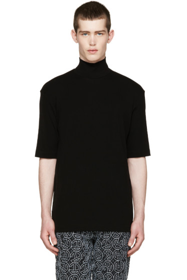 Johnlawrencesullivan - Black Turtleneck T-Shirt