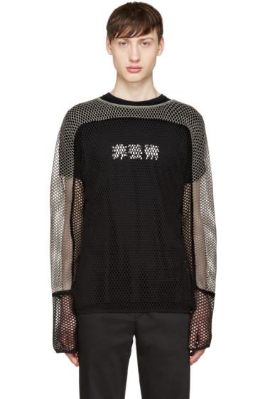 Blackmeans - Black & Grey Mesh Sweater