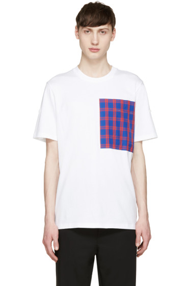 OAMC - White Plaid Pocket T-Shirt
