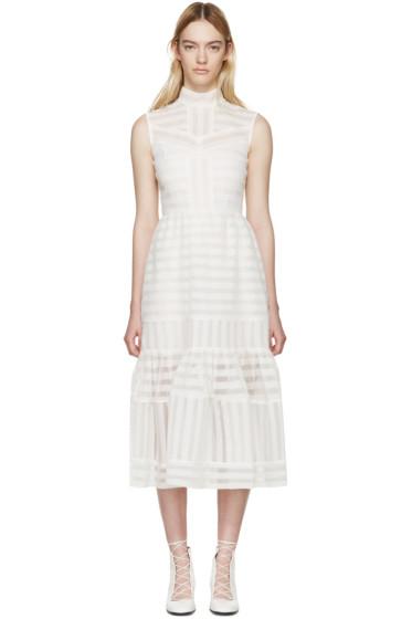 Erdem - White Organza Abrielle Dress