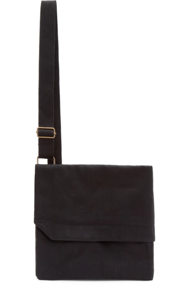 Lemaire - Black Denim Ergonomic Messenger Bag