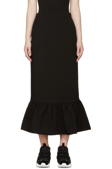 Edit - Black Crepe Mermaid Skirt