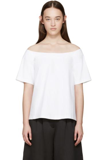 Edit - White Poplin Off-the-Shoulder Top