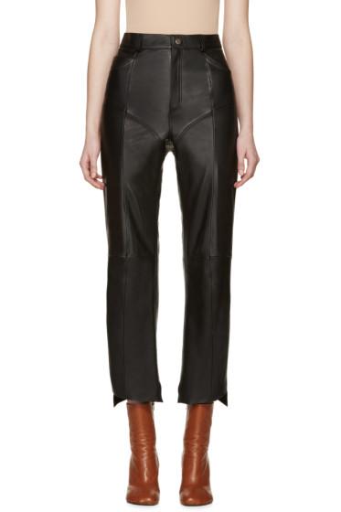 Vetements - Black Leather Moto Pants