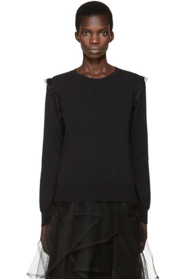 Noir Kei Ninomiya - Black Organza Trim Sweater