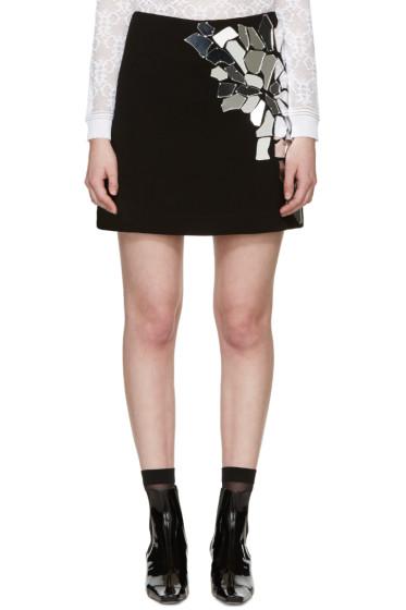 LOEWE - Black Crepe Mirror Miniskirt