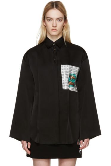 LOEWE - Black Goose Pocket Shirt
