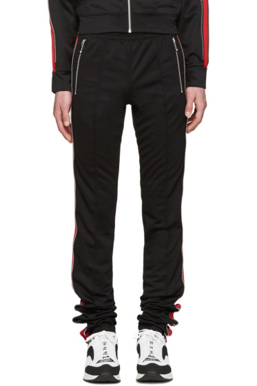 99% IS - Black & Red Zip Lounge Pants