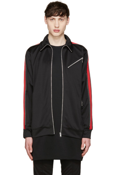 99% IS - Black & Red Track Zip Jacket