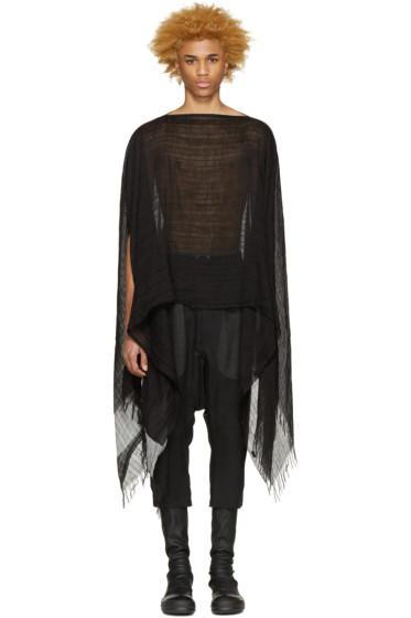 NILøS - Black Linen & Cotton Poncho