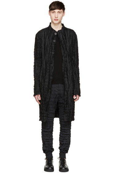 Issey Miyake Men - Black Reversible Zigzag Torus Cardigan