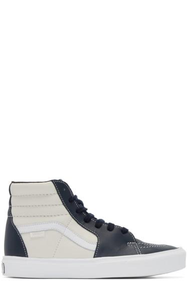 Vans - Navy & Off-White Sk8-Hi Lite LX High-Top Sneakers
