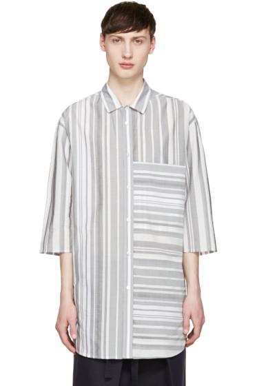 Stephan Schneider - Grey Multi Stripe Chevron Shirt