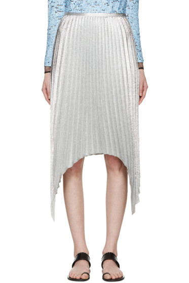 Emilio Pucci - Silver Pleated Skirt